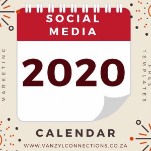 2020 FULL Social Media Content Calendar